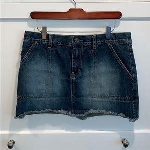 Tommy Hilfiger Denim Jean Raw Hem Mini Skirt